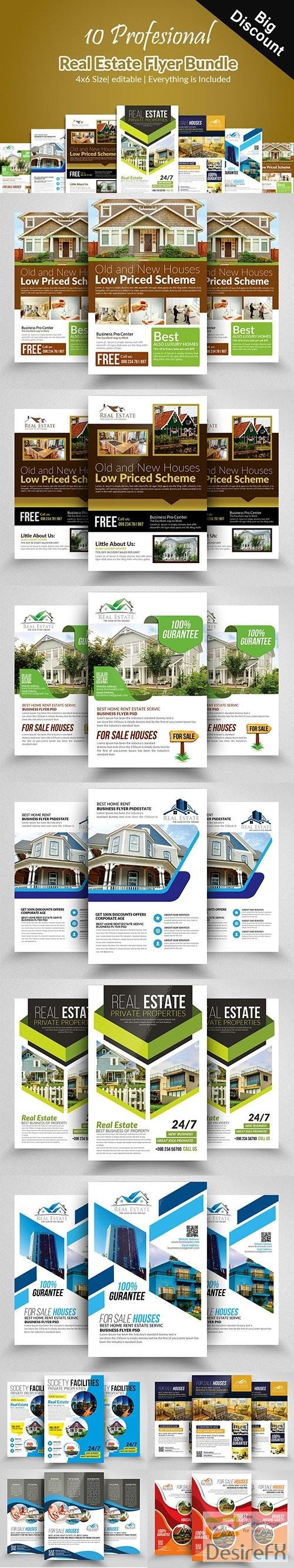 layered-psd - CM - 10 Real Estate Flyers Bundle 2351629
