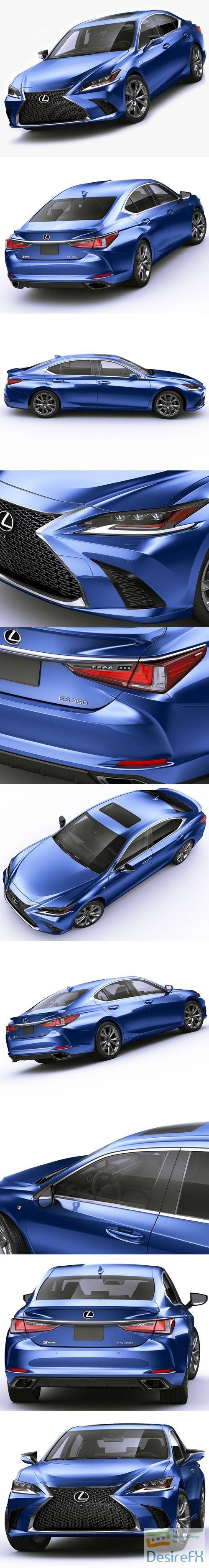 3d-models - Lexus ES F-Sport 2019 3D Model