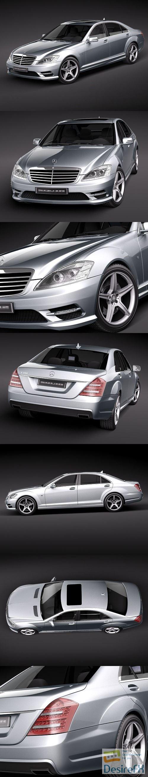 Mercedes-Benz S-Class AMG 2010 3D Model