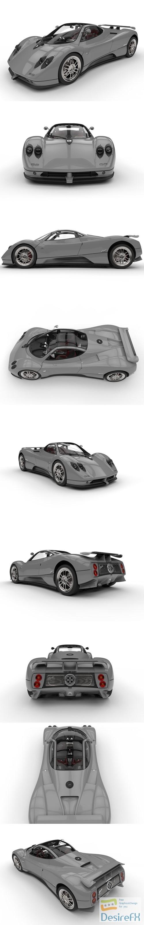 Pagani Zonda C12 Supercar 3D Model