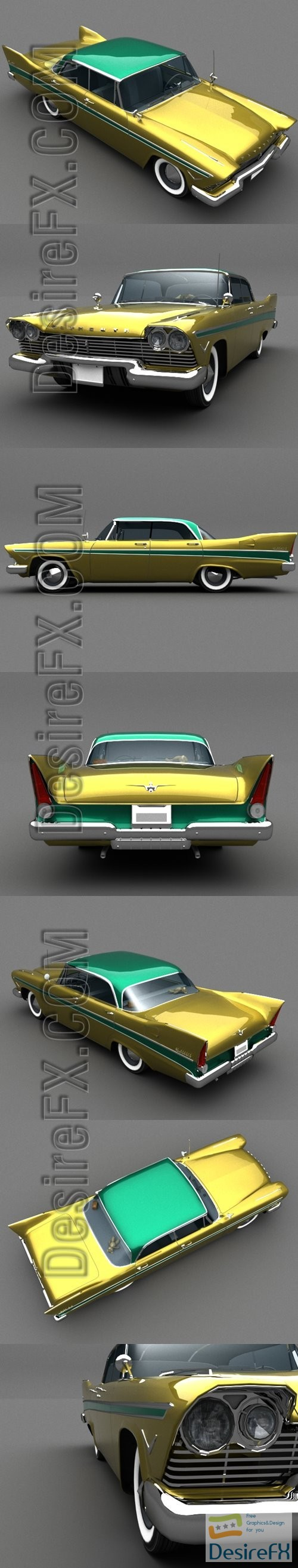 Plymouth Belvedere 1957 3D Model