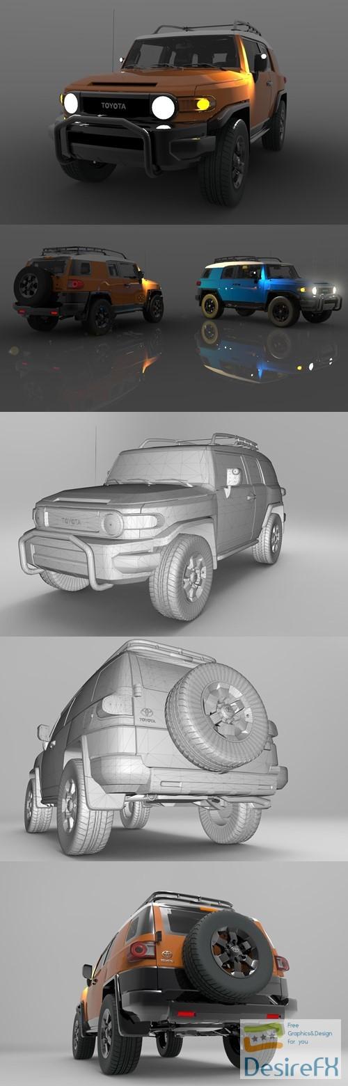 Toyota FJ Cruiser: Detailed Design 3D Model
