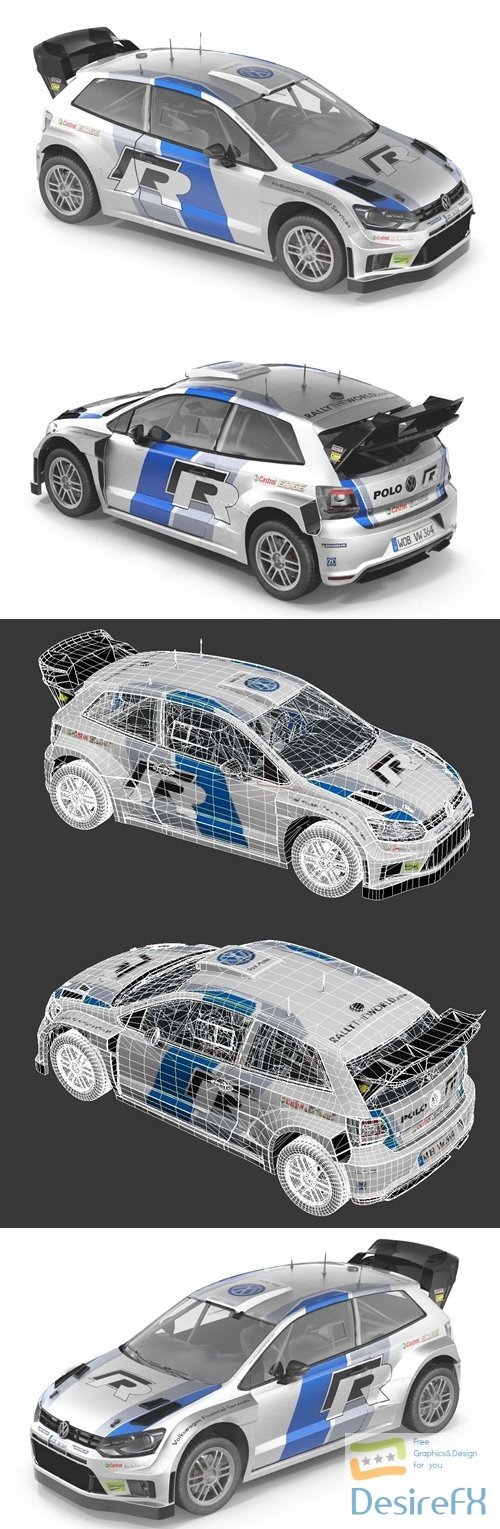 3d-models - Volkswagen Polo R 3D Model