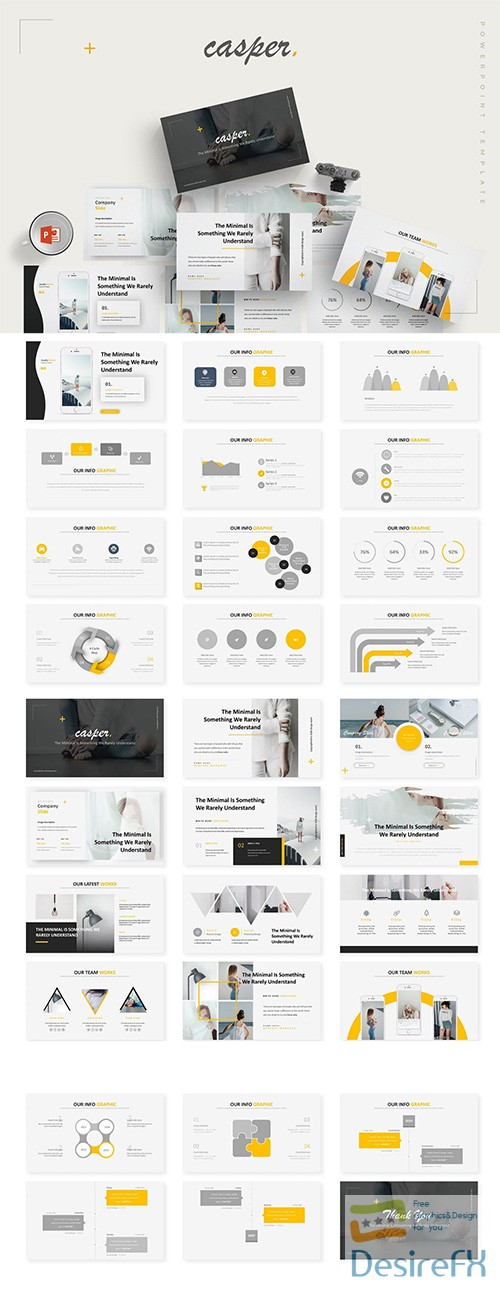 Casper - Powerpoint, Keynote and Google Sliders Templates