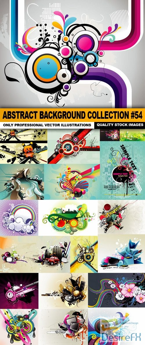 stock-vectors - Abstract Background Collection #54 - 20 Vector