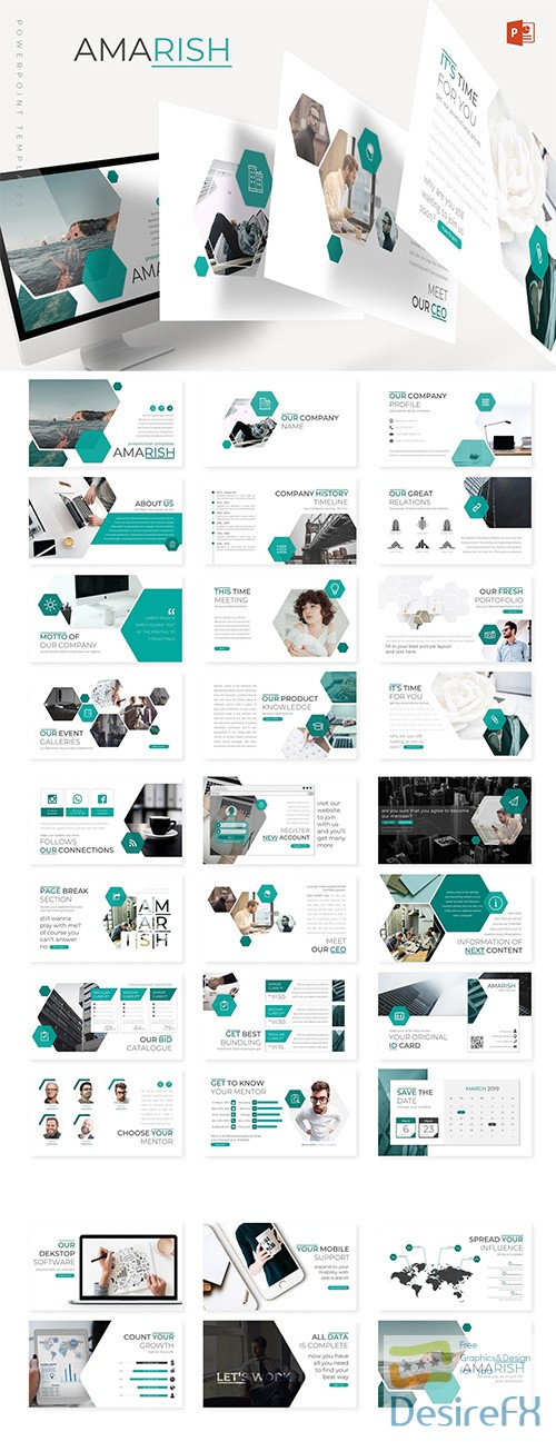 powerpoint - Amarish - Powerpoint, Keynote and Google Sliders Template