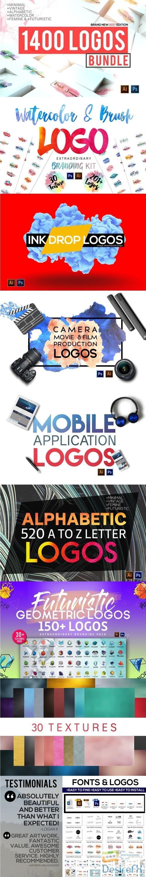 photoshop - 1400 Logos Mega Bundle Pack - 1312306