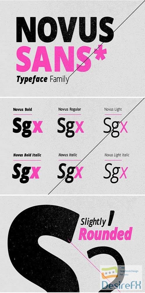 fonts - Novus Sans Typeface Family 795124