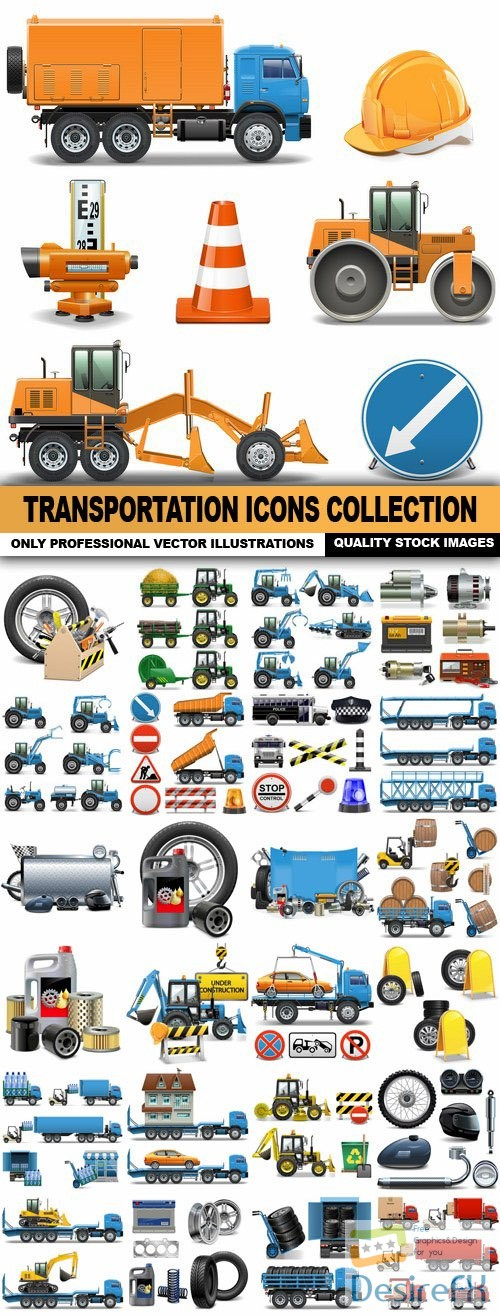 stock-vectors - Transportation Icons Collection - 25 Vector