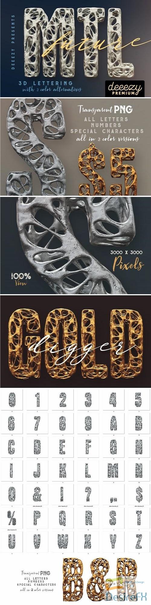 photoshop - Future Metal – 3D Lettering - 2659337
