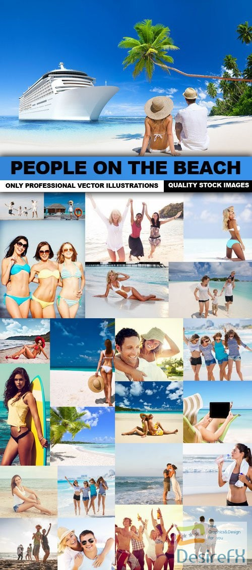 stock-images - People On The Beach - 25 HQ Images