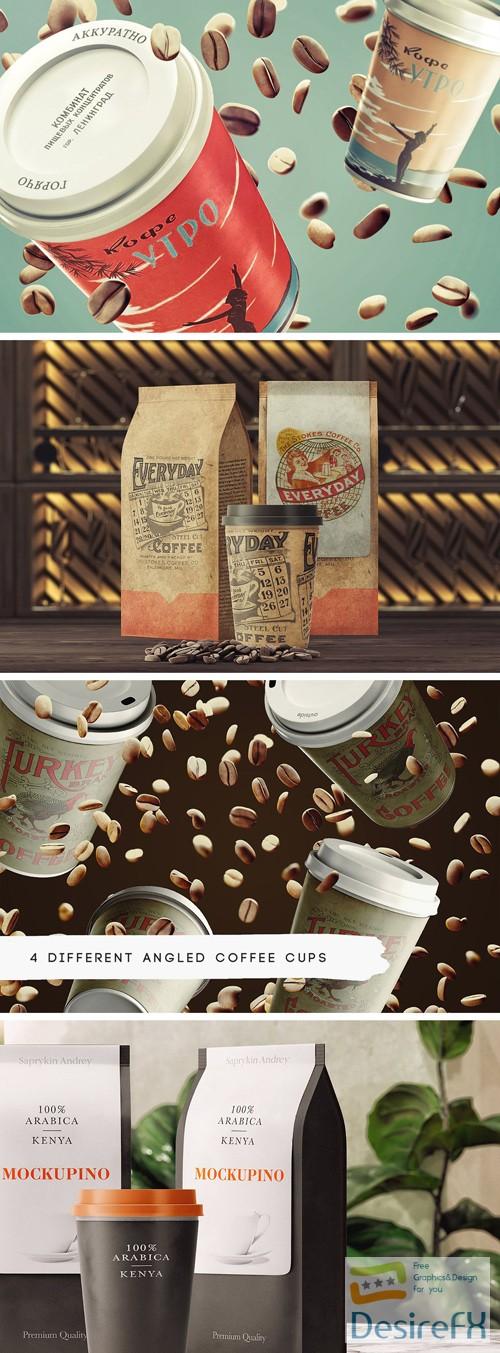 mock-up - Coffee Maniac PSD Mockup Set
