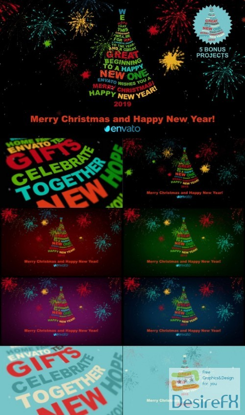 after-effects-projects - Videohive Christmas Tree Greetings 2019 9562150