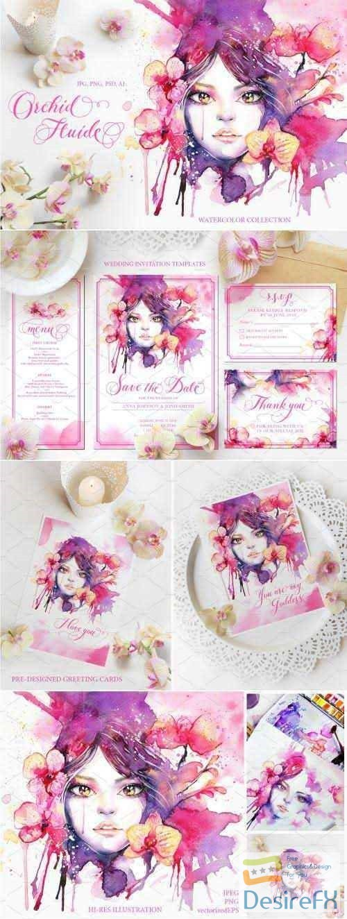 photoshop - Orchid Fluide Watercolor Collection - 2849649
