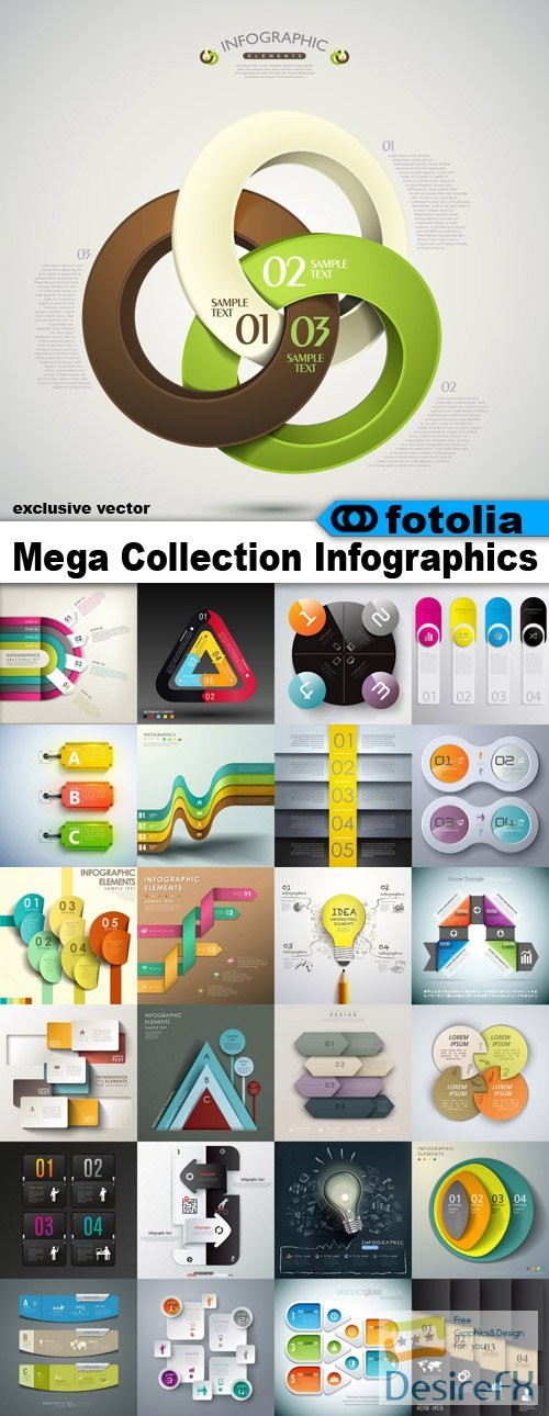 stock-vectors - Mega Collection Infographics - 3200 Vector + Preview