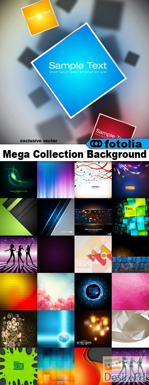 stock-vectors - Mega Collection Background - 1750 Vector + Preview