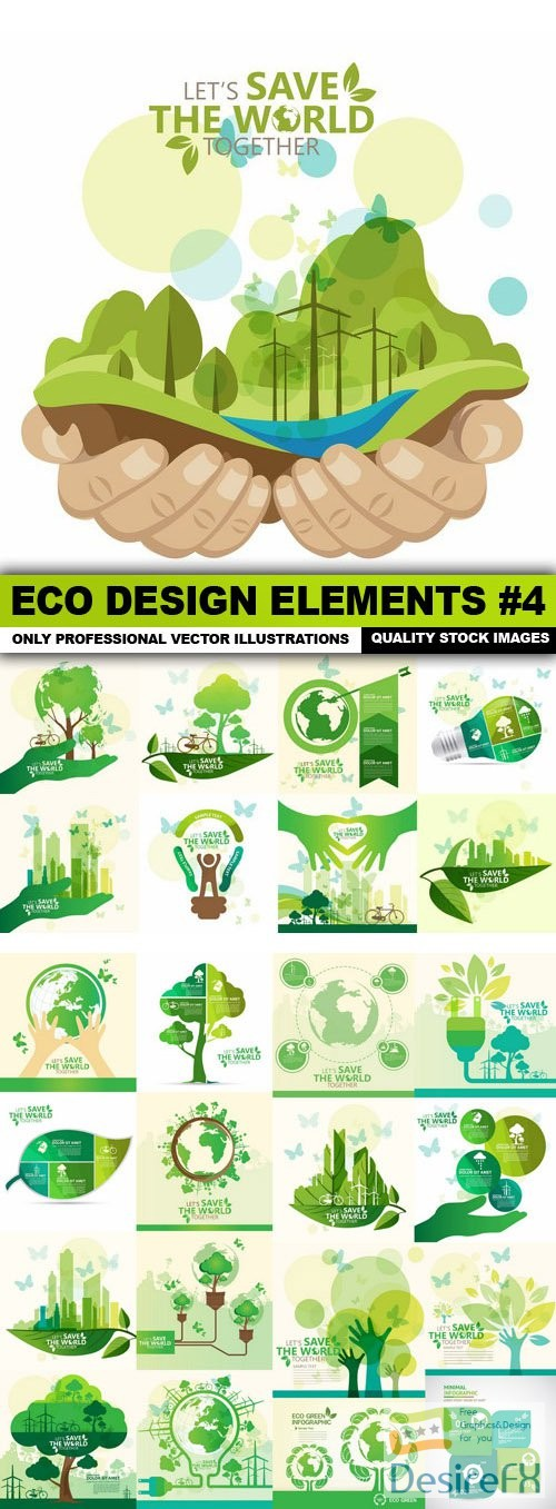 stock-vectors - ECO Design Elements #4 - 25 Vector