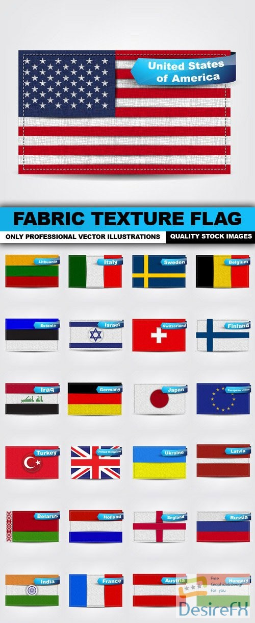 stock-vectors - Fabric Texture Flag - 25 Vector