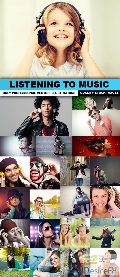 stock-images - Listening To Music - 25 HQ Images