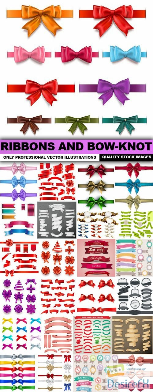 stock-vectors - Ribbons And Bow-Knot - 25 Vector