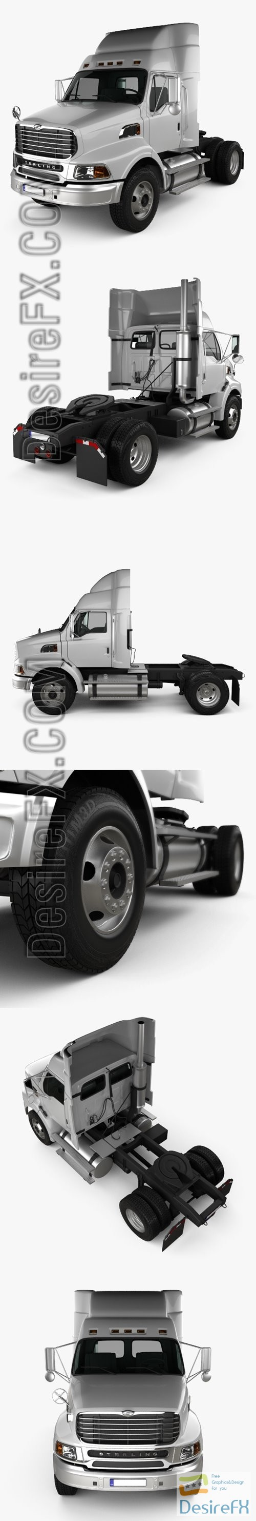 Ford Sterling A9500 Tractor Truck 2006 3D Model