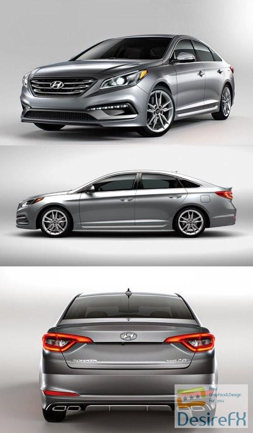 3d-models - Hyundai Sonata 2015 3D Model