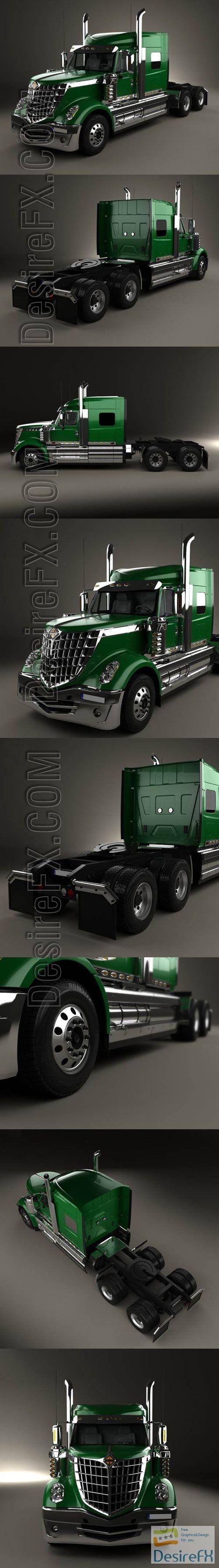 3d-models - International LoneStar Tractor Truck 2008 3D Model