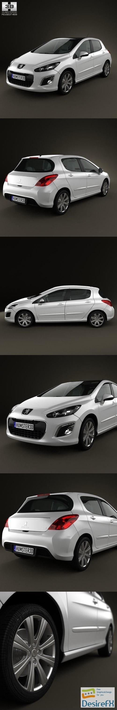 3d-models - Peugeot 308 2012 3D Model