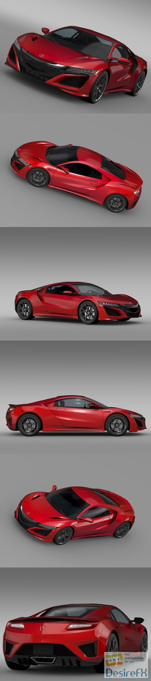 3d-models - Acura NSX 2016 3D Model