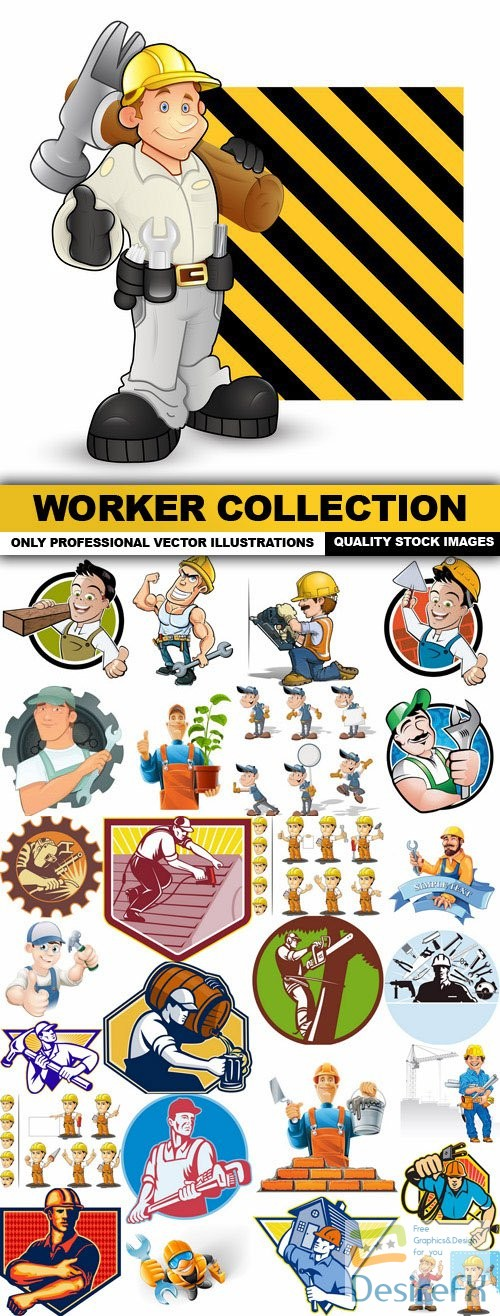 stock-vectors - Worker Collection - 30 Vector