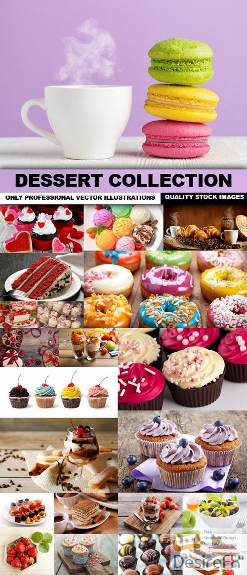 stock-images - Dessert Collection - 25 HQ Images