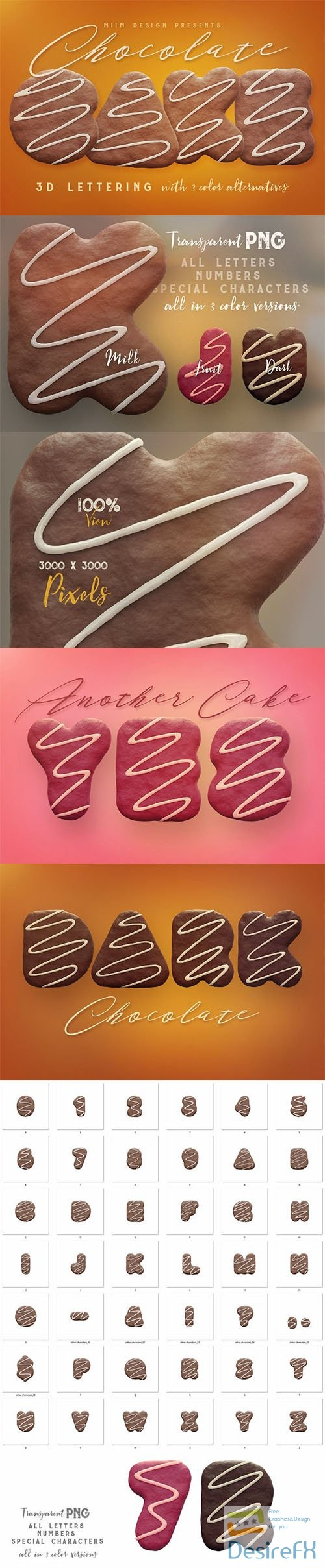 photoshop - Chocolate Cake - 3D Lettering 2749554