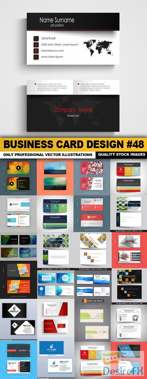 stock-vectors - Business Card Design #48 - 25 Vector