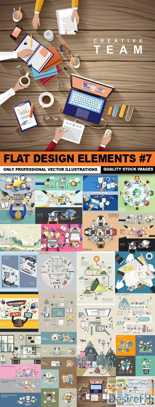 stock-vectors - Flat Design Elements #7 - 25 Vector