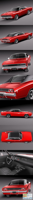 3d-models - Dodge Charger 1968 3D Model