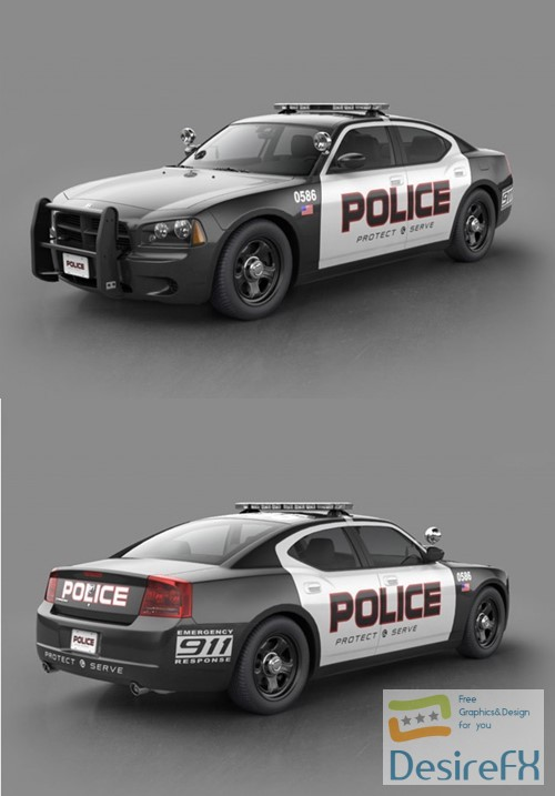 Desirefx Com Download Dodge Charger Police 3d Model