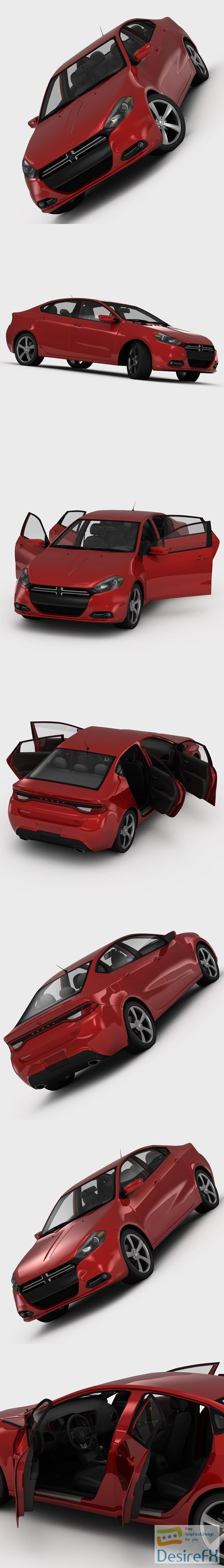 3d-models - Dodge Dart RT 2013 3D Model