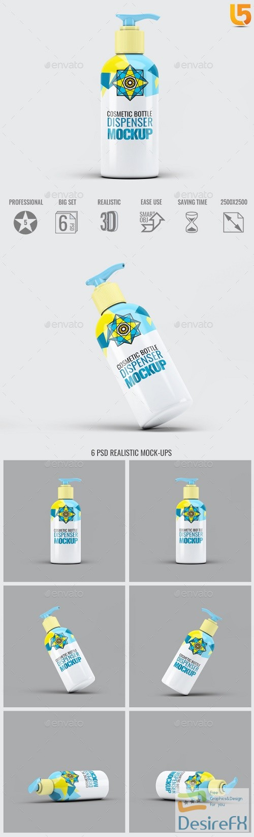 mock-up - Cosmetic Bottle Dispenser Mock-Up V.4 - 20590295