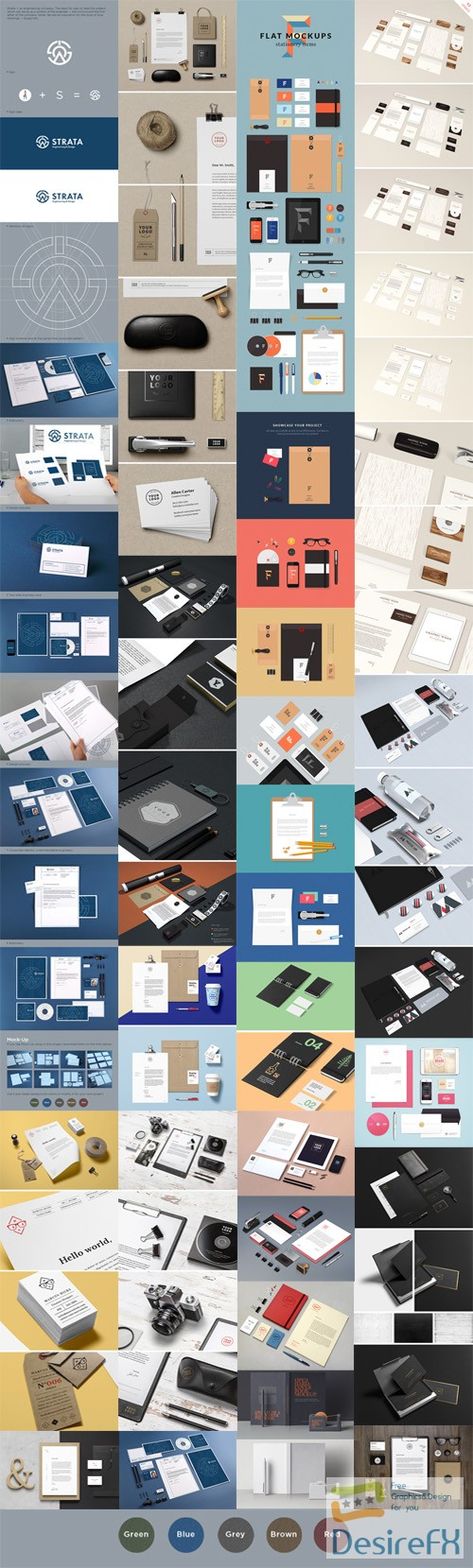 mock-up - Corporate [Stationery/Branding/Identity] PSD Mockups Collection