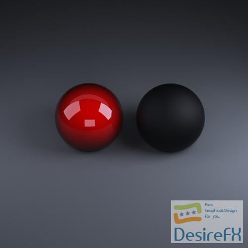3d-models - Vray Material - Falloff (car paint)&Black Rubber