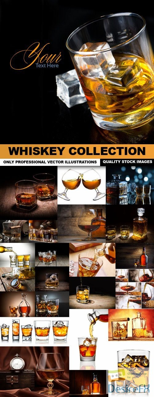 stock-vectors - Whiskey Collection - 25 Vector