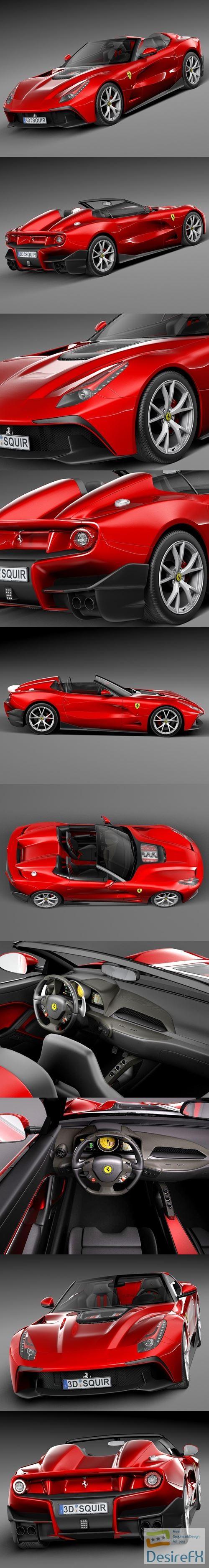3d-models - Ferrari F12 TRS Roadster 2014 3D Model