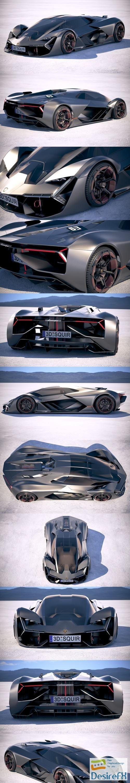 3d-models - Lamborghini Terzo Millennio 2018 3D Model