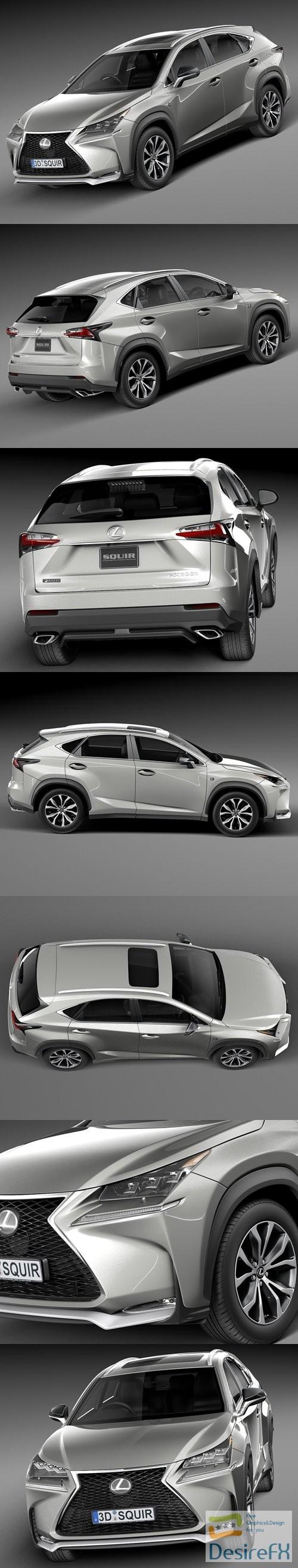 3d-models - Lexus NX 200t 2015 3D Model