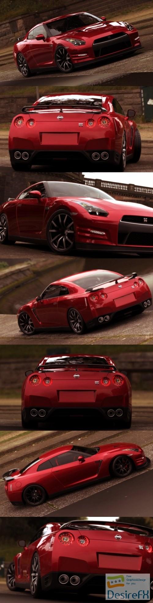 Nissan GT-R 2012 3D Model