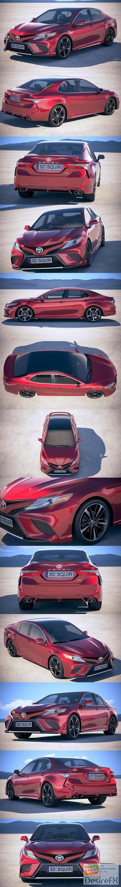 3d-models - Toyota Camry SE 2018 3D Model