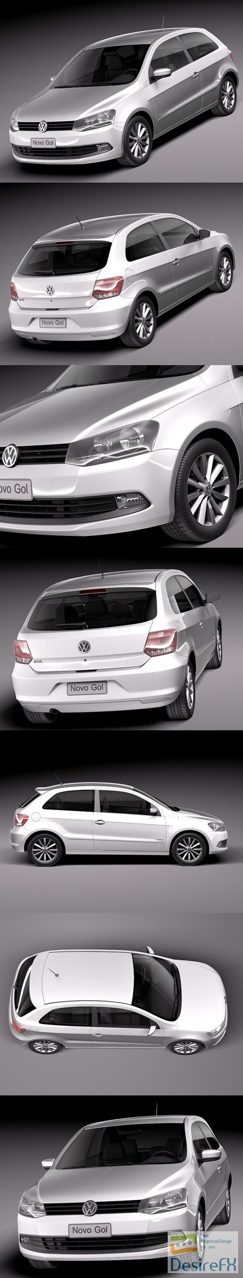 3d-models - Volkswagen Gol 2013 3D Model