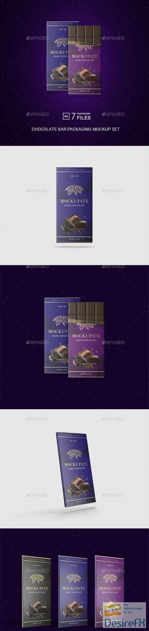 mock-up - Chocolate Bar Packaging Mockup 22613172