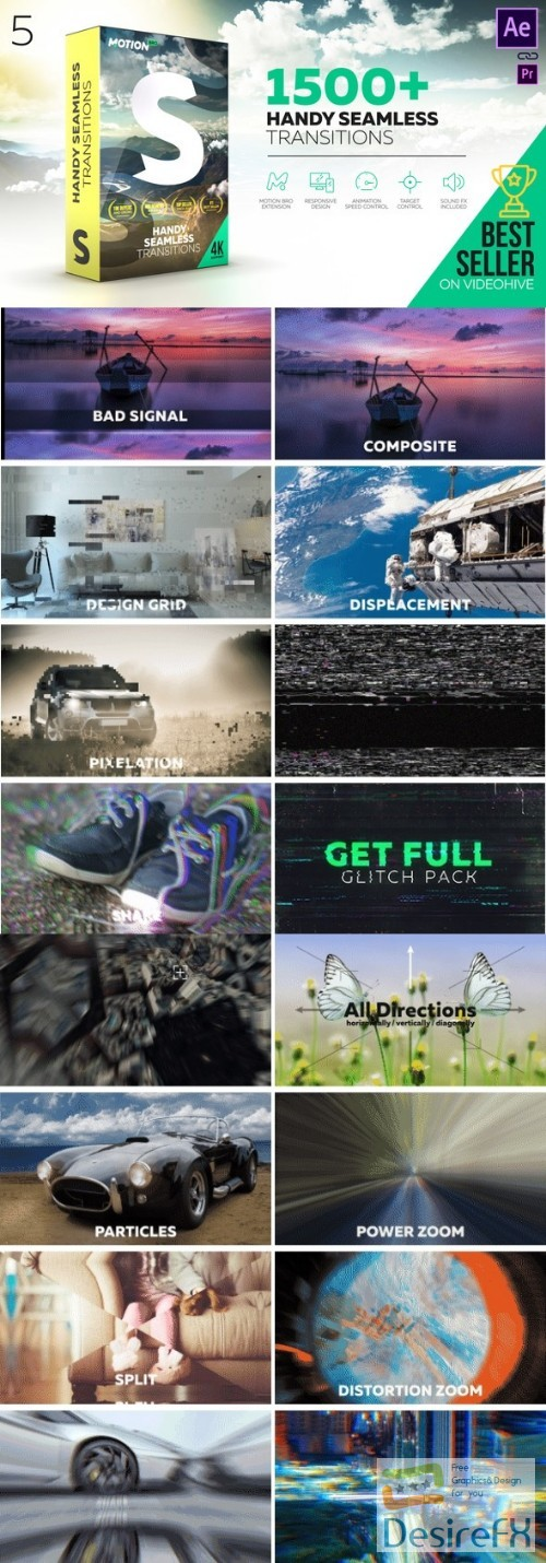 after-effects-projects - Videohive Transitions 18967340 V5 (With Crack) - Last Update 24 September 18