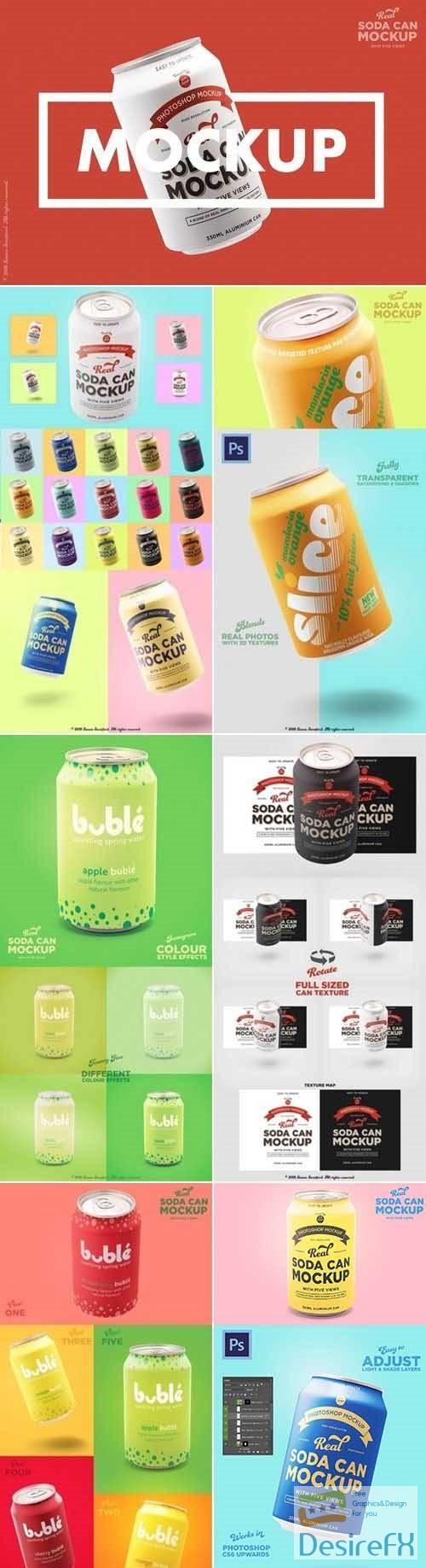 mock-up - Tin soda can mockup branding designs - 2954747